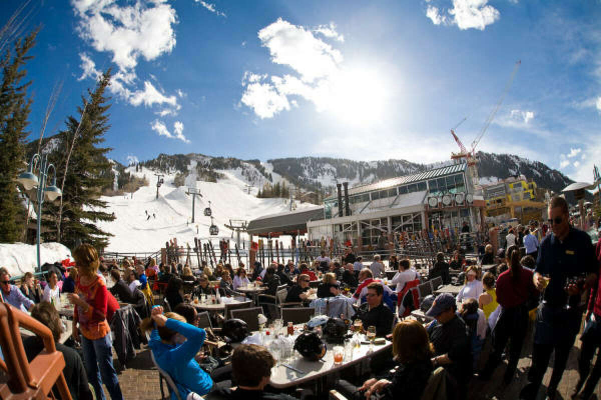 Whether you're seeking a luxurious getaway or an affordable jaunt, you have options in Aspen. Pictured: Après at Ajax Tavern at the base of Aspen Mountain Read the story here.