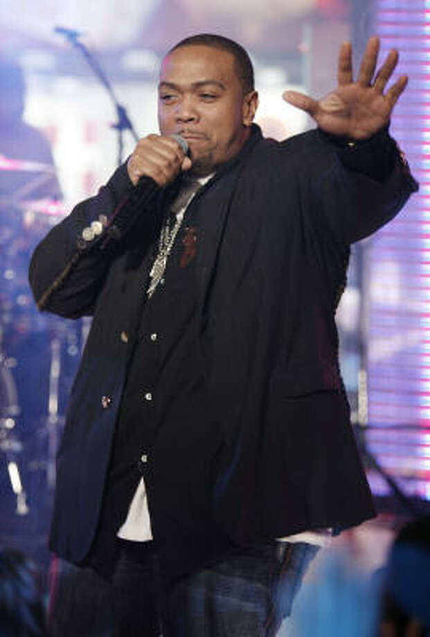 Timbaland: DeVante Swing of the R&B group Jodeci renamed the young producer after Timberland construction boots, which were popular in hip hop fashion. Photo: Jeff Christensen, AP