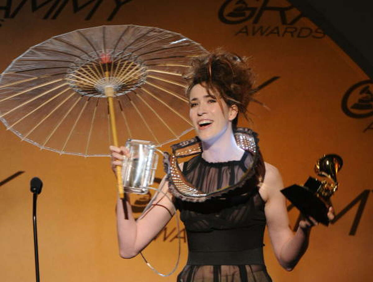 Producer Imogen Heap receives the Best Engineered Album, Non-Classical award for