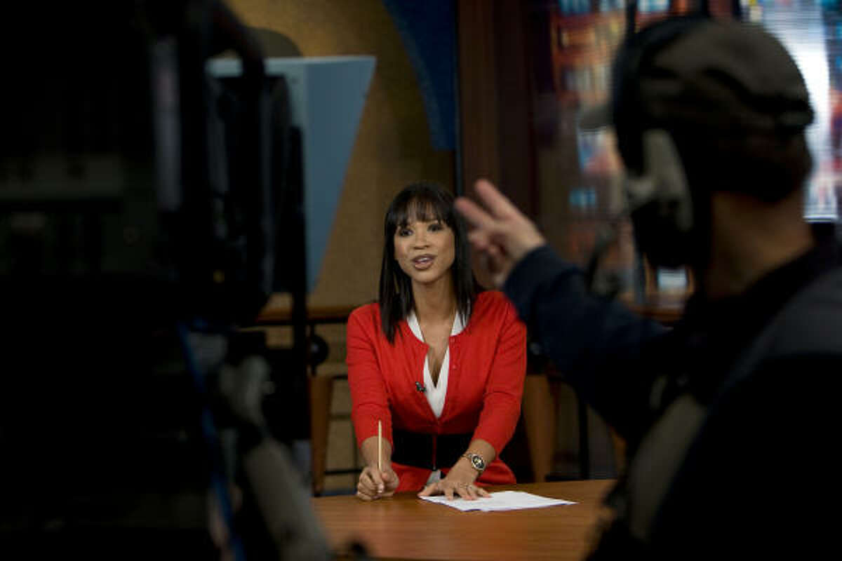 Leading a newscast at a network with the lowest ratings in town doesn't deter Gradney from her goal.