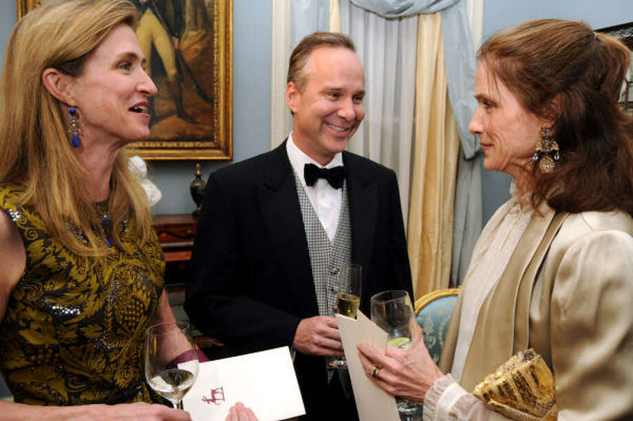 From left: Carrol Goodman, Kevin Hanratty and Christiana McConn at the Rienzi Society Dinner. Photo: Dave Rossman, For The Chronicle