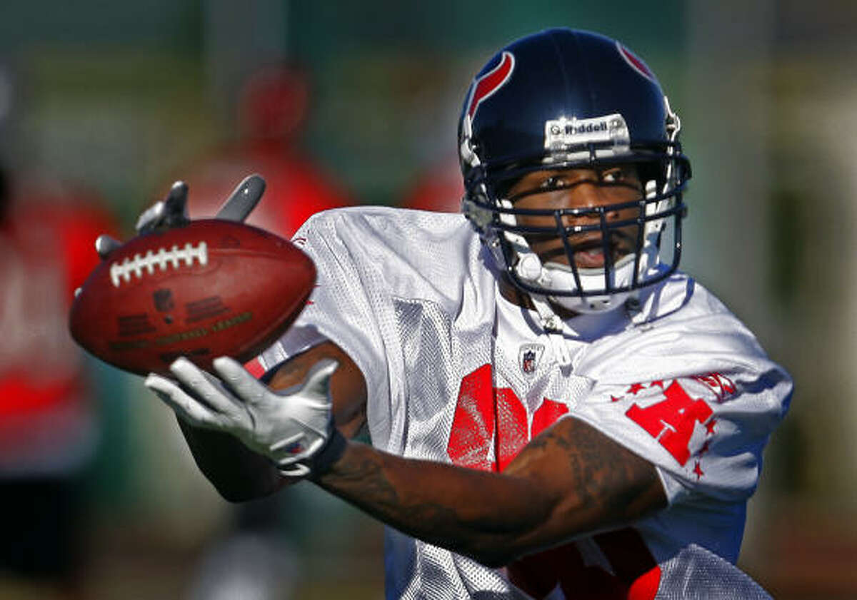 Texans wide receiver Andre Johnson is making his fourth Pro Bowl appearance.
