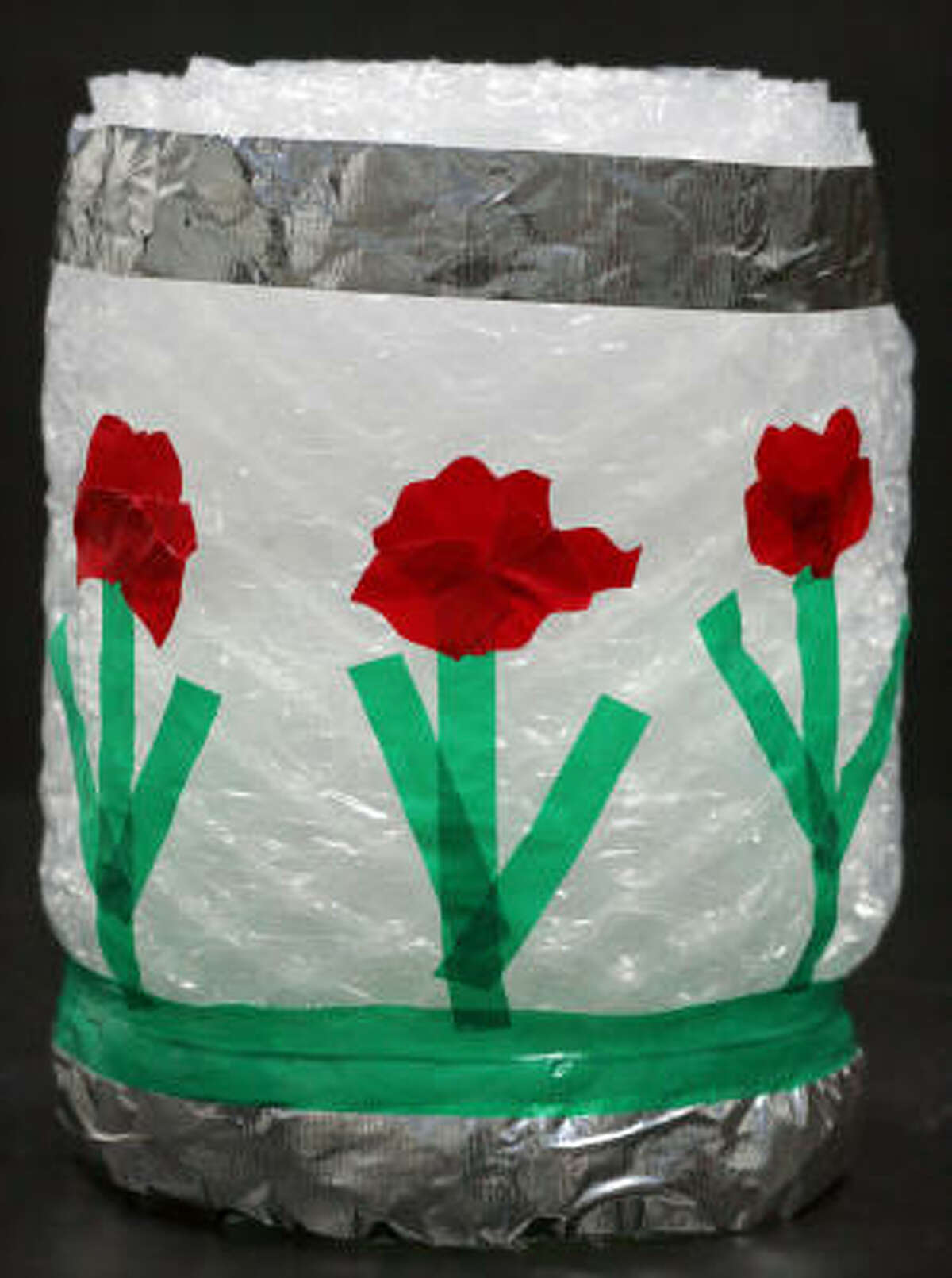 In honor of Bubble Wrap Appreciation Day children can make a fun stool for their bedroom using bubble wrap and duct tape.