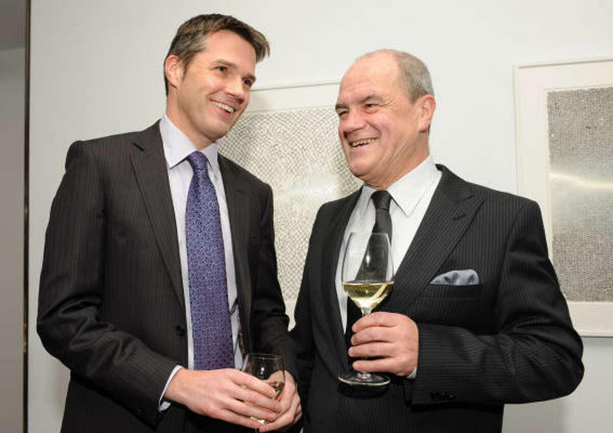 Duncan Copp, left, and Maestro Hans Graf
