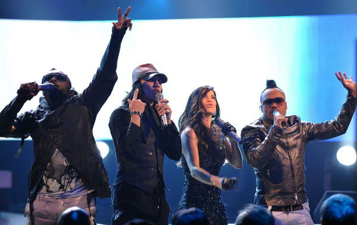The Black Eyed Peas performed at the Grammy Nominations Concert Live where nominations for the 52nd annual Grammy Awards were announced. The band is up for Record of the Year, Album of the Year and Pop Vocal Album.