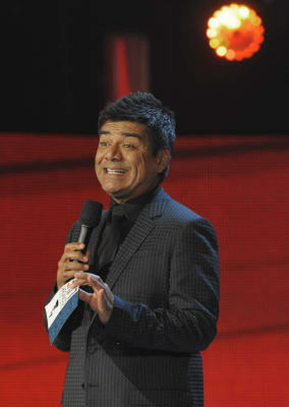 Comedian George Lopez was on hand to MC the show.
