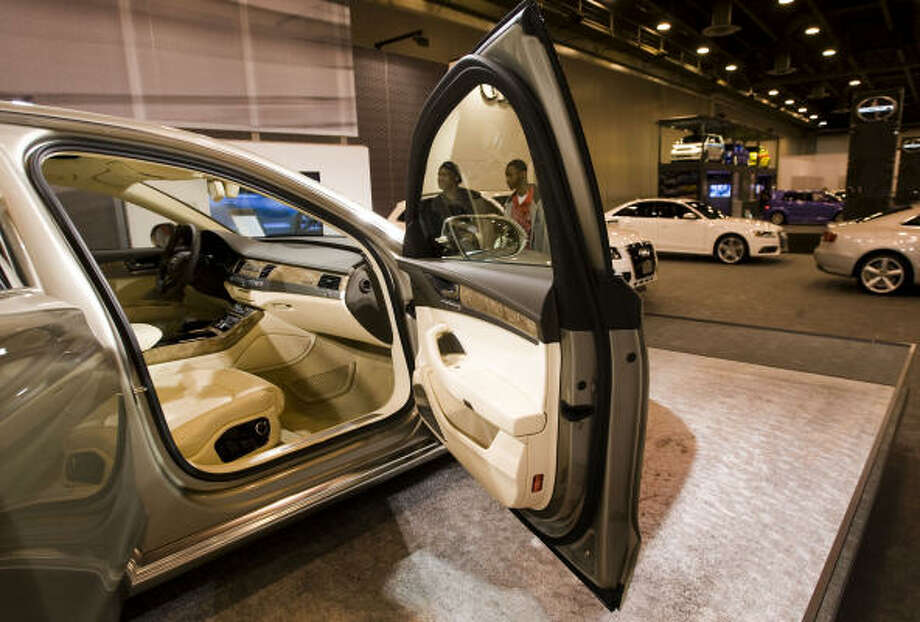 The interior of an Audi A8 is shown at the Houston Auto Show Wednesday, Jan. 27, 2010, Houston. Photo: Brett Coomer, Chronicle