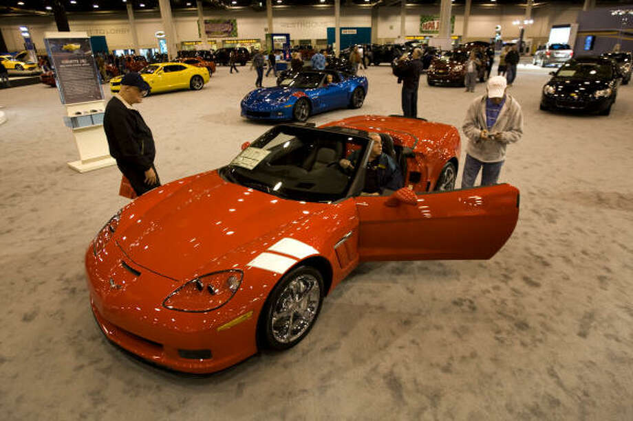 A Corvette GS Convertible is shown at the Houston Auto Show Wednesday, Jan. 27, 2010, Houston. Photo: Brett Coomer, Chronicle