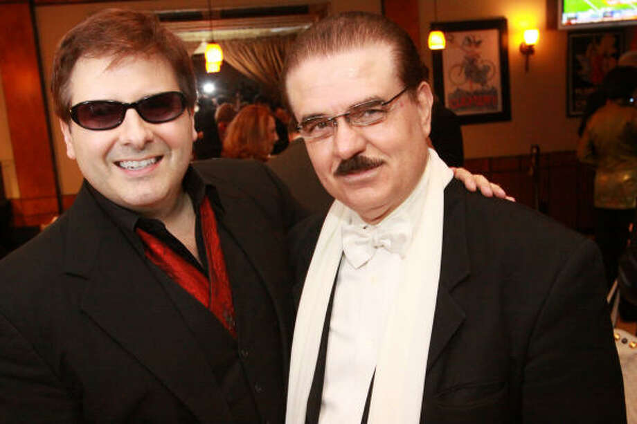 Ernie Manouse and Riyad Abu-Taha at Hollywood Nights, a red carpet reception at Little Napoli honoring Manouse for winning three Emmys in 2009. The event was presented by Riyad Abu-Taha and the Ambassadors' Club Photo: Bill Olive, For The Chronicle