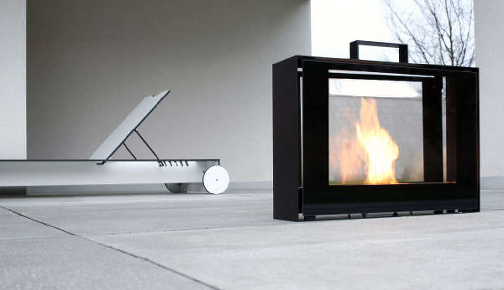 Portable Green Fireplace, The Conmoto Travelmate By Ameico.com Credit:  Ameico Photo: