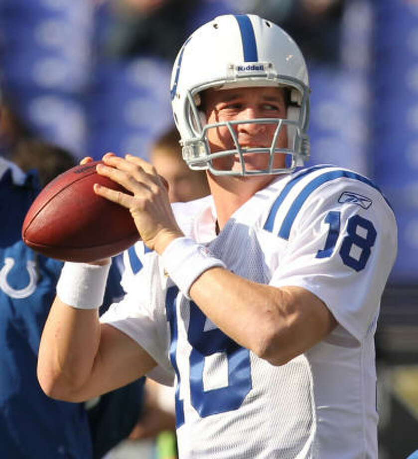 AFC  Peyton Manning  Team:  Indianapolis Colts  Position:  Quarterback (Starter) Photo: George Bridges, MCT