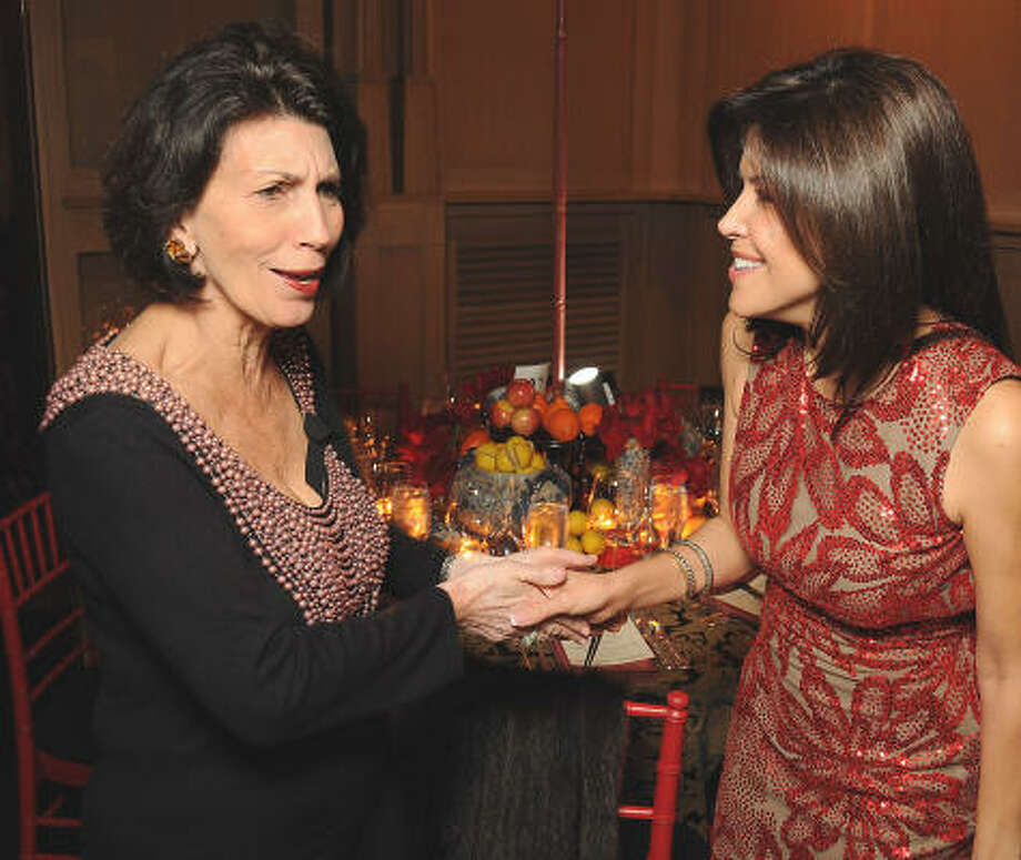 Pamela Fiori and Ericka Bagwell at a UNICEF fundraiser at the home of Becca Cason Thrash. Photo: Dave Rossman, For The Chronicle