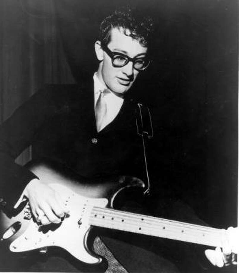"""Feb. 3, 1959: Rock stars Buddy Holly (pictured), J.P. """"The Big Bopper"""" Richardson and Ritchie Valens were killed when their chartered plane crashed near Mason City, Iowa, en route to a show. Photo: AP"""
