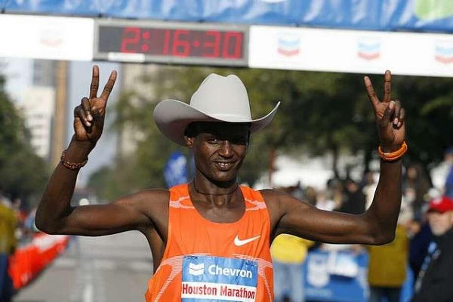 2010 Men's - Teshome Gelana - 2:07:37- Ethiopia Photo: James Nielsen, Chronicle