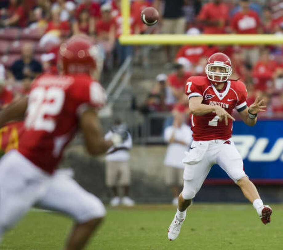 Sept. 5: UH 55, Northwestern State 7 23-30, 359 yards, 4 TD, 0 INT Photo: Smiley N. Pool, Chronicle