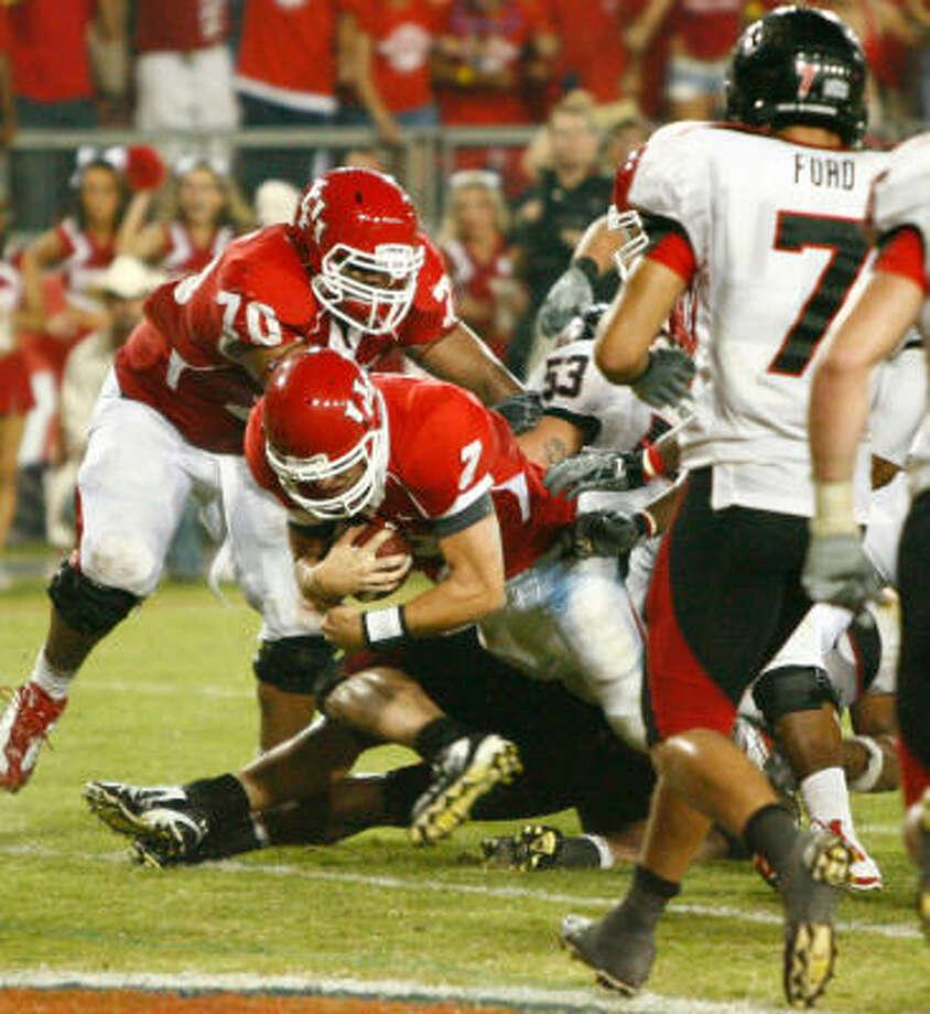 Sept. 26: UH 29, Texas Tech 28 38-58, 435 yards, 1 TD, 1 INT Photo: Nick De La Torre, Chronicle