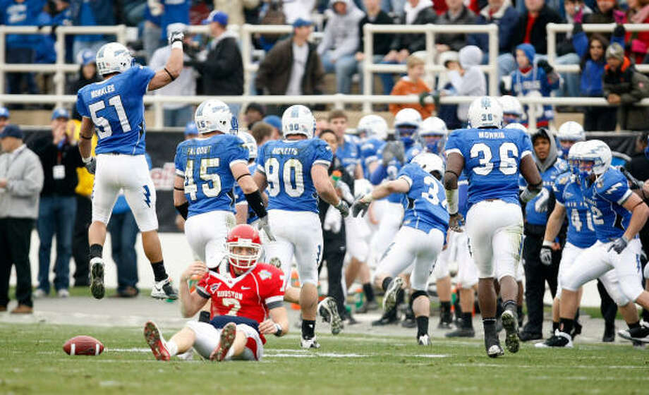Dec. 31: Air Force 47, UH 20 (Armed Forces Bowl) 24-41, 222 yards, 1 TD, 6 INT Photo: Nick De La Torre, Chronicle