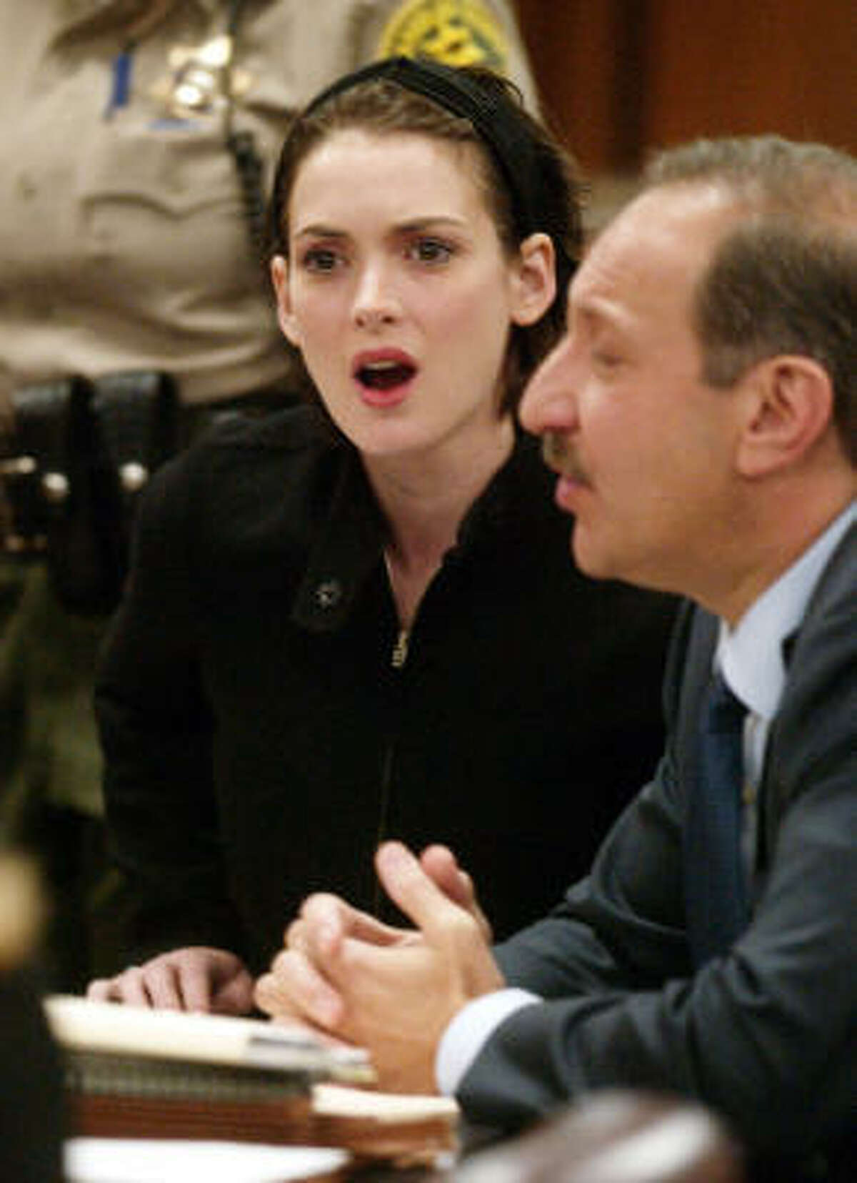 Actress Winona Ryder was arrested in 2001 for shoplifting for a Saks Fifth Avenue in Beverly Hills.