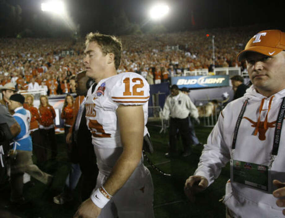 Key loss: Quarterback Colt McCoy Photo: Brett Coomer, Chronicle