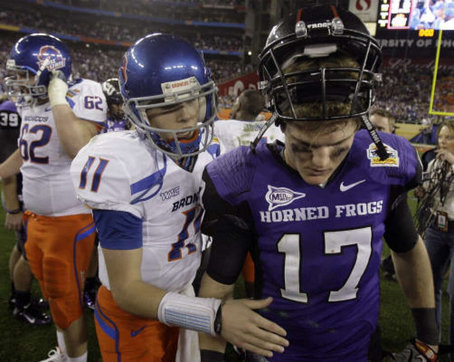 Jan. 4, Fiesta Bowl: Boise State 17, TCU 10Click here for game gallery. Photo: Paul Connors, AP