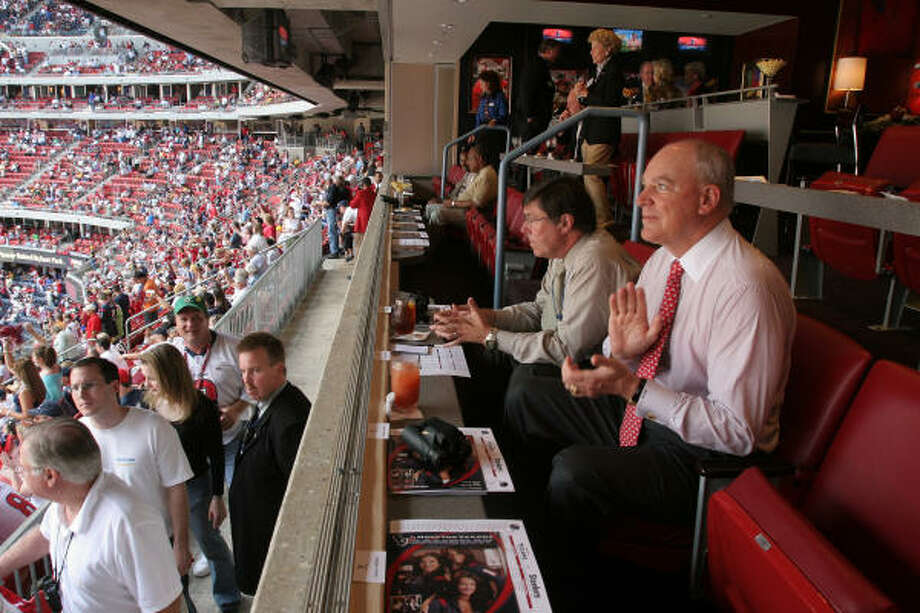 NRG has five layers of seating, including suites, from the lower bowl to the upper deck. Photo: RICHARD CARSON, For The Chronicle
