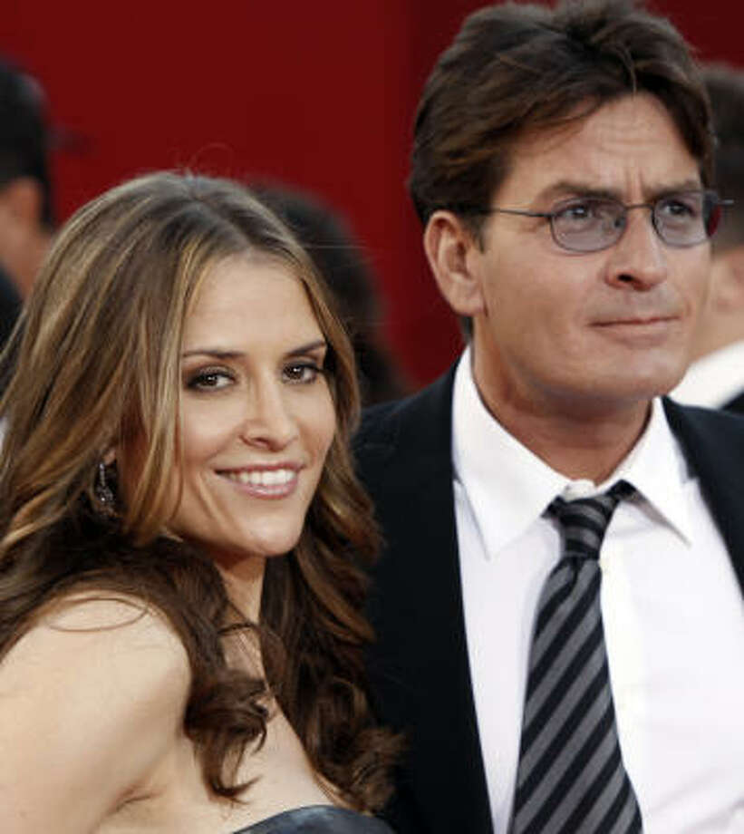 Charlie Sheen and his wife Brooke Mueller Sheen recently became parents of twin boys. Photo: Matt Sayles, AP
