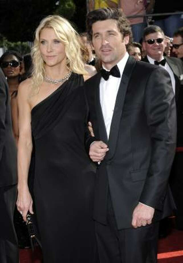 Patrick Dempsey and his wife, Jill Fink, are parents of twin boys. Photo: Chris Pizzello, AP