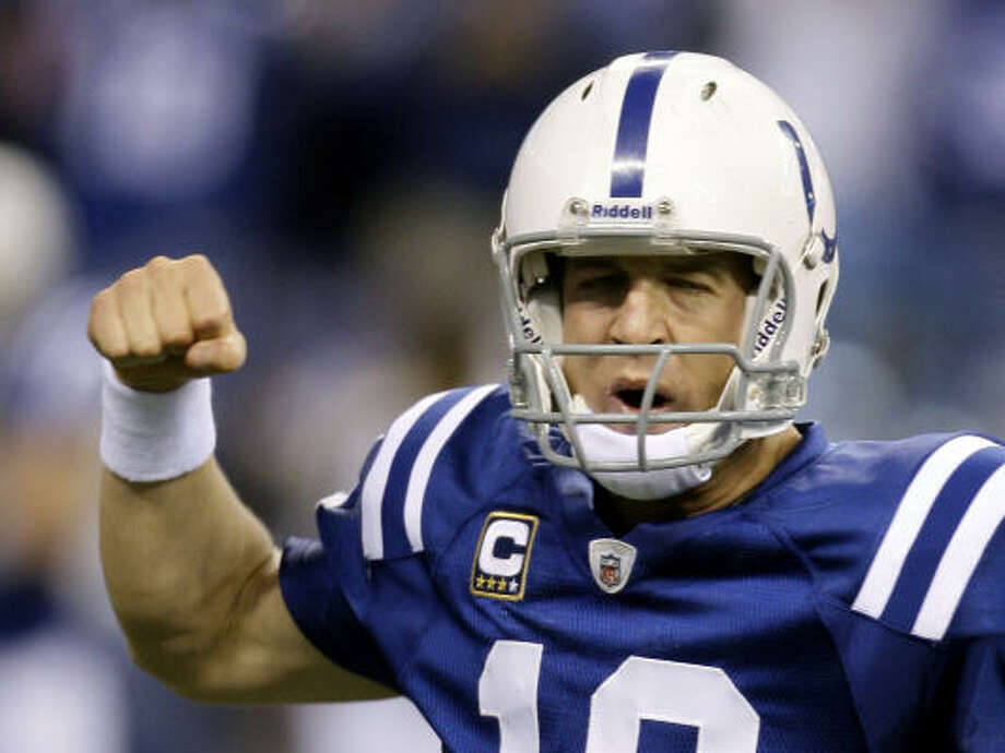 Indianapolis Colts   Current record: 15-1  Comment: The Colts have clinched the AFC South, a first-round bye and home-field advantage throughout the playoffs. Photo: Darron Cummings, AP