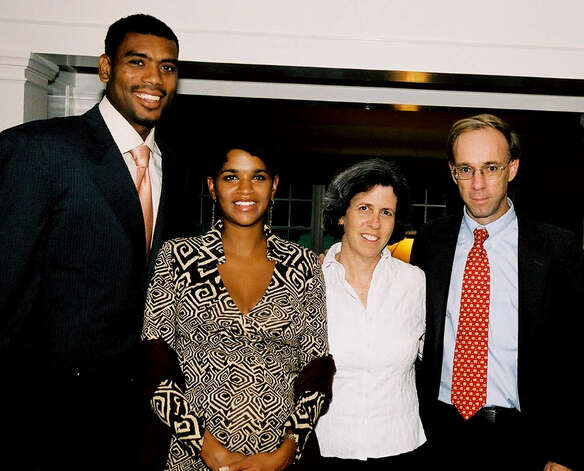 Greenwich resident Steve Mandel, a hedge fund manager and philanthropist, was interested in making meaningful school change in Bridgeport, according to Meghan Lowney, who worked for Mandel and was lobbying behind the scenes to reconstitute the Bridgeport school board, according to emails obtained by Hearst Connecticut Newspapers. Mandel, far right, is seen in this 2004 file photo along with New York Knicks player Allan Houston. Photo: ST / Connecticut Post