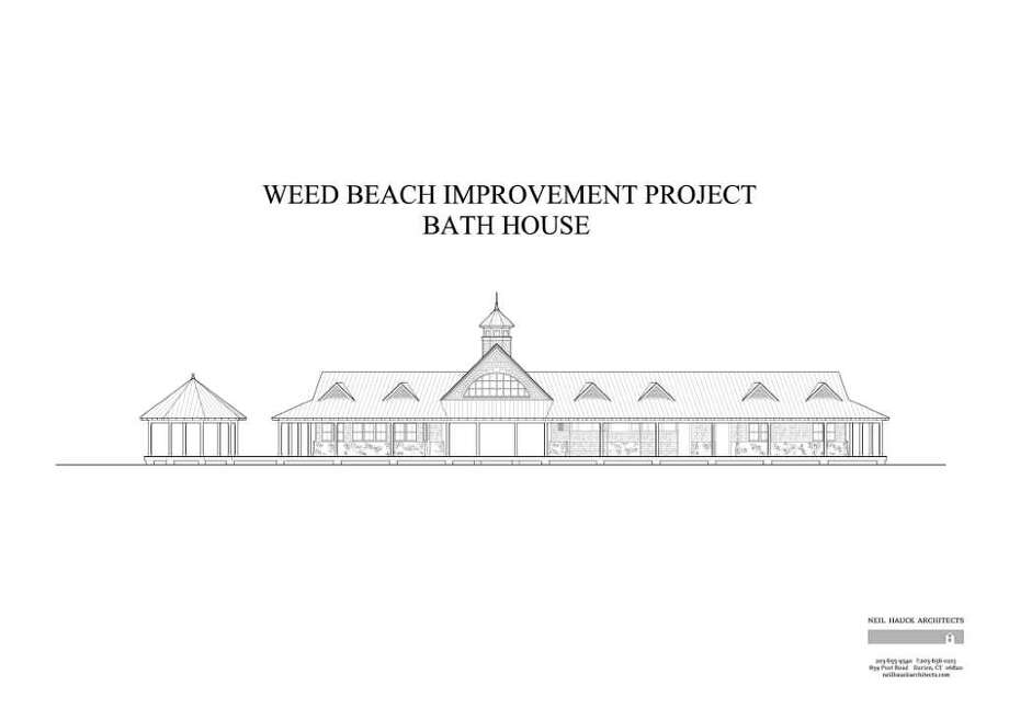 The above rendering shows the completed Weed Beach Project. Photo: Contributed Photo