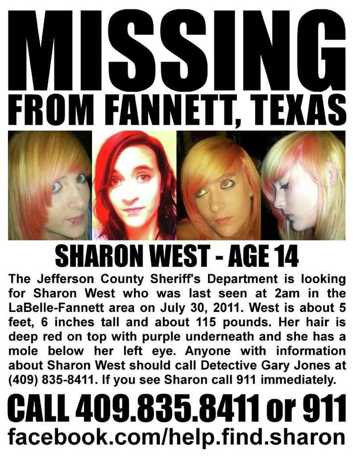Fourteen-year-old Sharon West has been missing from the Fannett area since July 30. Photo: Provided