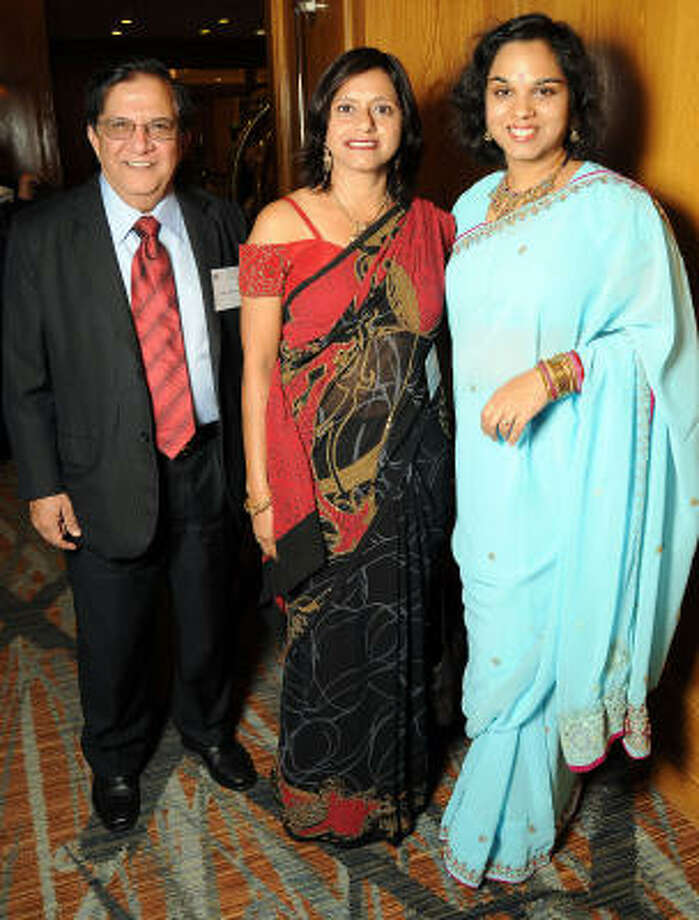 From left: Harish Katharani, Poonam Taneja and Joya Shukla Photo: Dave Rossman, For The Chronicle