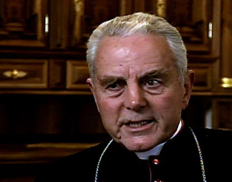 DENIAL: Bishop Richard Williamson is under fire.  Photo: SWEDISH TV, AP