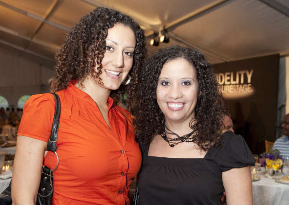 Sonja Brikho and Laura Aguilar at a reception for the Fidelty Futurestage Music Competition Finale Concert hosted by Fidelity Investments and the Houston Symphony. Photo: Jenny Antill
