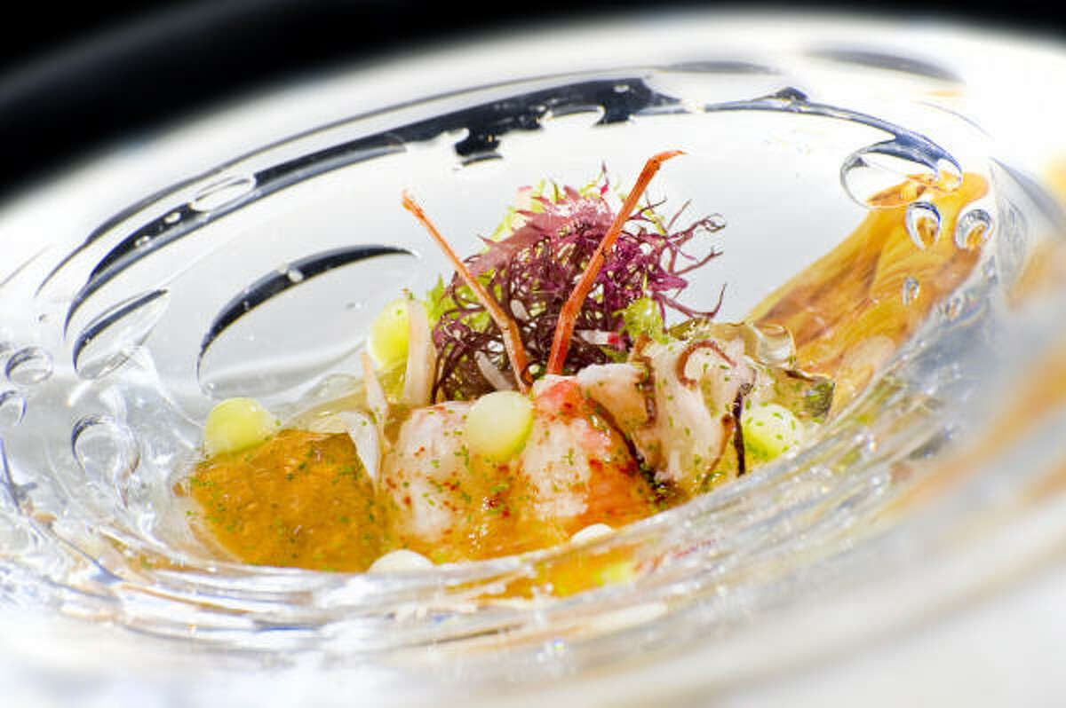 L'ATELIER DE JOEL ROBUCHON: Sea urchin, octopus and prawn cold appetizer