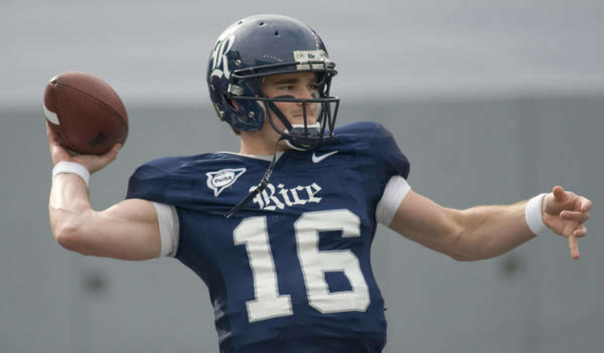 Former Rice quarterback Chase Clement was name the team's MVP at the Owls' 2008 awards banquet Saturday.