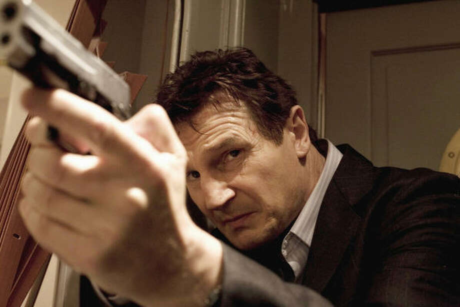 Liam Neeson plays a retired spy who leaves a trail of dead bodies as he searches for his daughter's abductors in Taken. Photo: Stephanie Branchu, 20th Century Fox