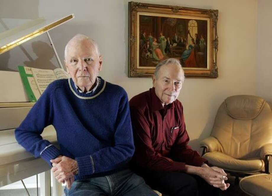 Jack Reavley, left, and Bob Claunch met in the Army during the Korean War. Photo: GINA FERAZZI, Los Angeles Times