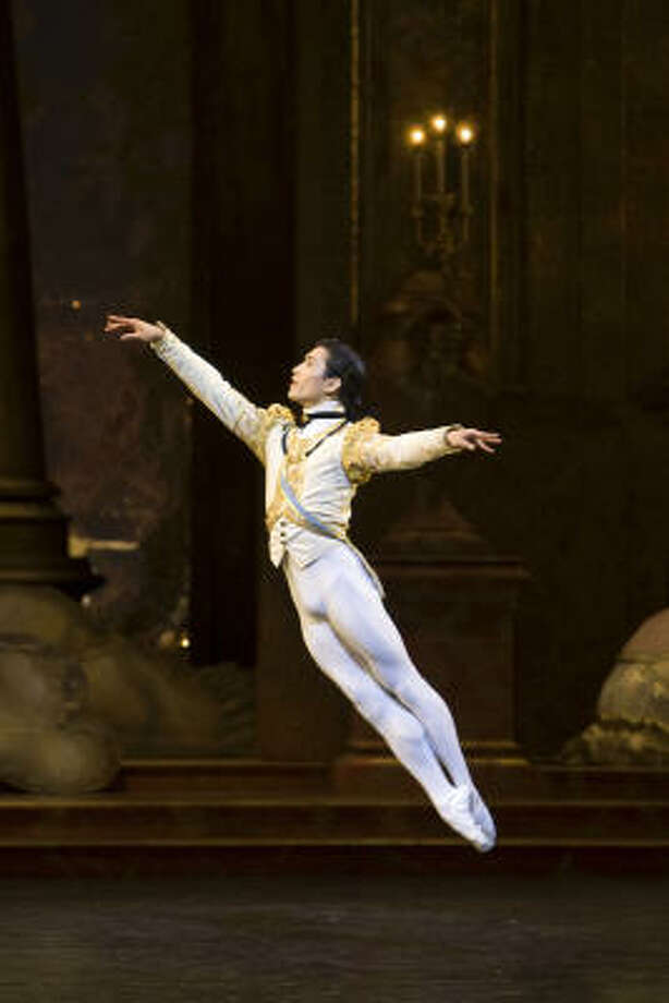 Chi Cao, shown here in the Birmingham Royal Ballet's production of Sleeping Beauty, will guest star in Houston Ballet's The Nutcracker for several performances. Photo: ANDREW ROSS :, BIRMINGHAM ROYAL BALLET