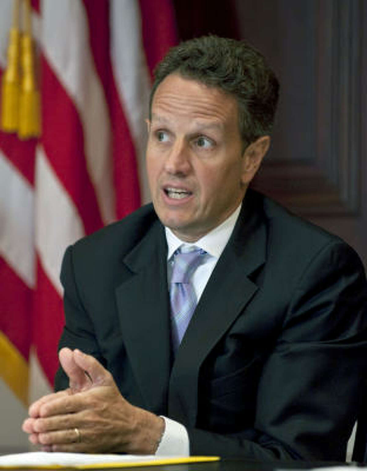 Timothy Geithner, U.S. treasury secretary, announces cash awards for renewable energy projects.