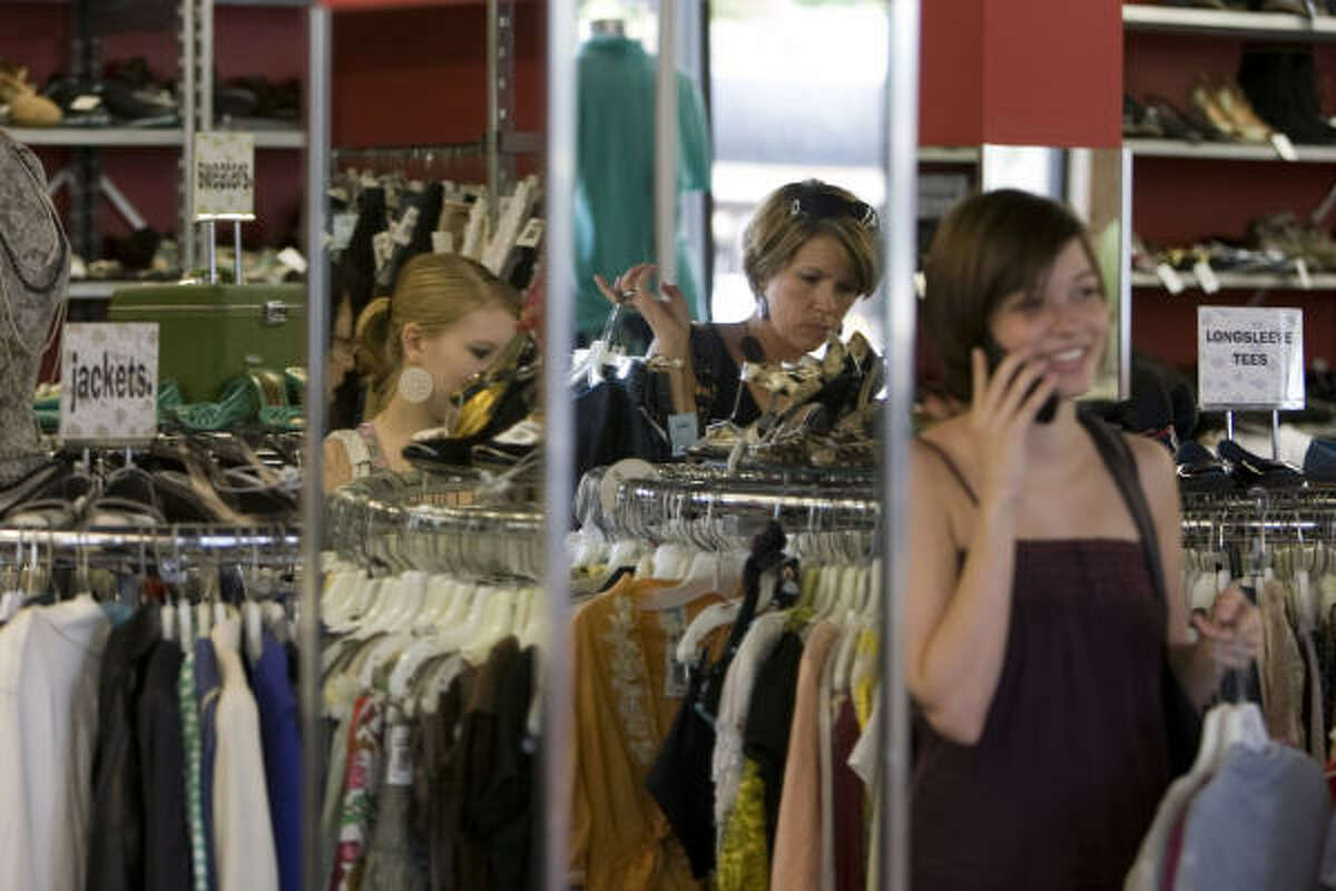 Sell your clothes (or trade them in) at Buffalo Exchange, 1616 Westheimer.