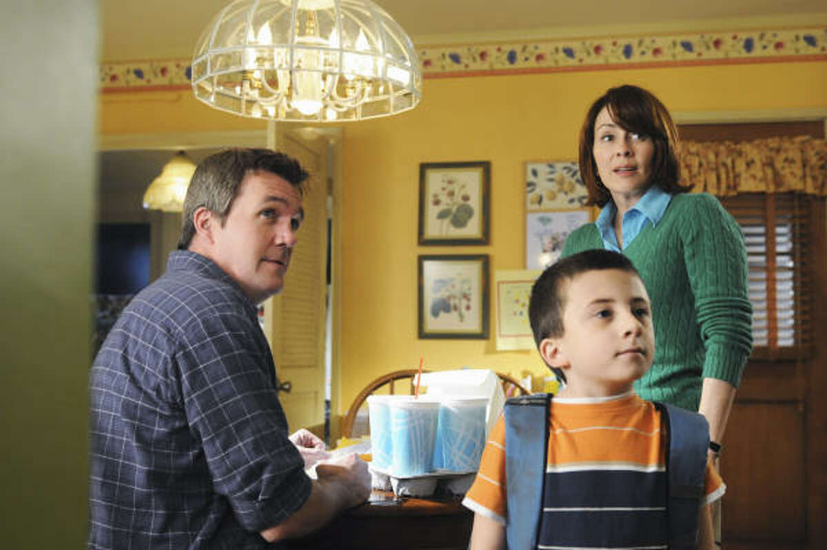 ABC is scoring big with the new Wednesday night sitcom The Middle, starring Neil Flynn, from left, Atticus Shaffer and Patricia Heaton. It's about a family living in middle America.