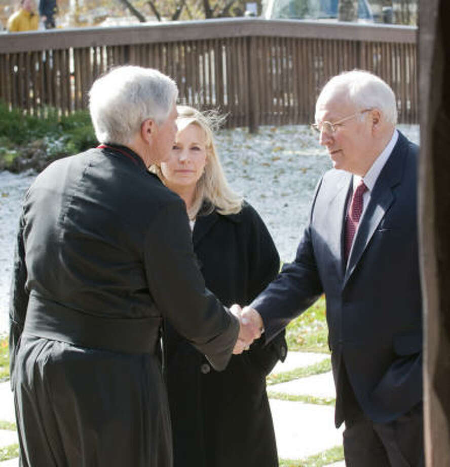 The former vice president appears earlier this week at a memorial service for former Wyoming governor and U.S. Sen. Cliff Hansen at St. John's Episcopal Church in Jackson, Wyo. Photo: Bradly J. Boner, Jackson Hole News