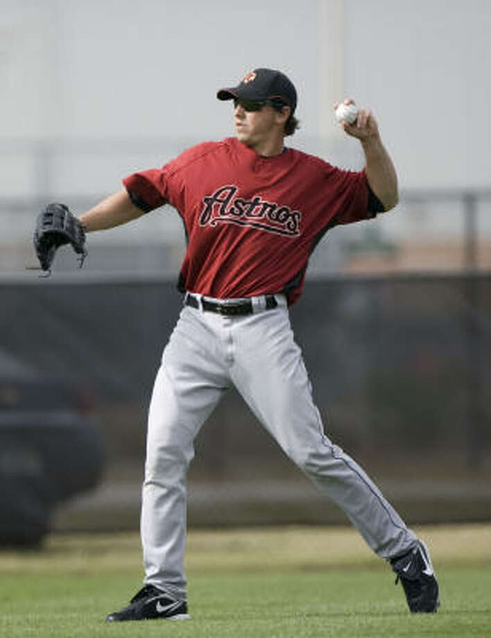 Brian Bogusevic, the Astros' first round pick in 2005, leads Round Rock in on-base percentage and is one of the organization's top hitters just more than a year after the Astros aborted his failed career as a pitcher. Photo: James Nielsen, Houston Chronicle