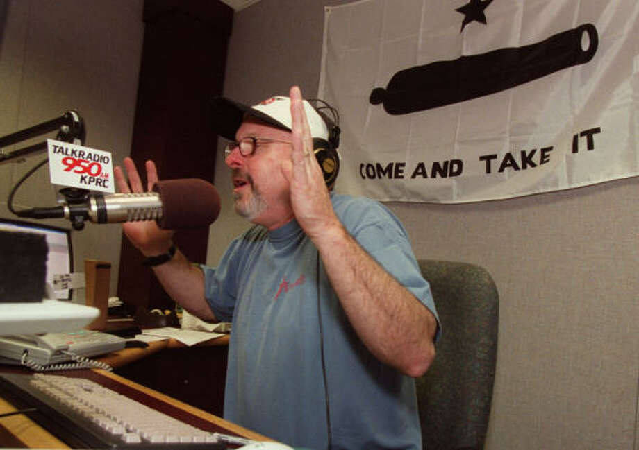 Baker, who now hosts a morning drive show in Minneapolis-St. Paul, left Houston radio in November 2007. Photo: Chronicle File