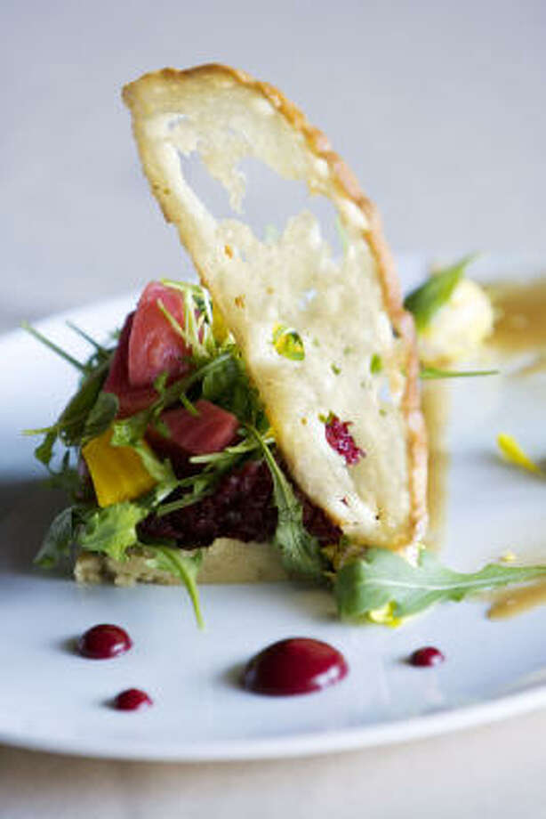 Rainbow Lodge's simple, elegant beet salad. Photo: Eric Kayne, Chronicle