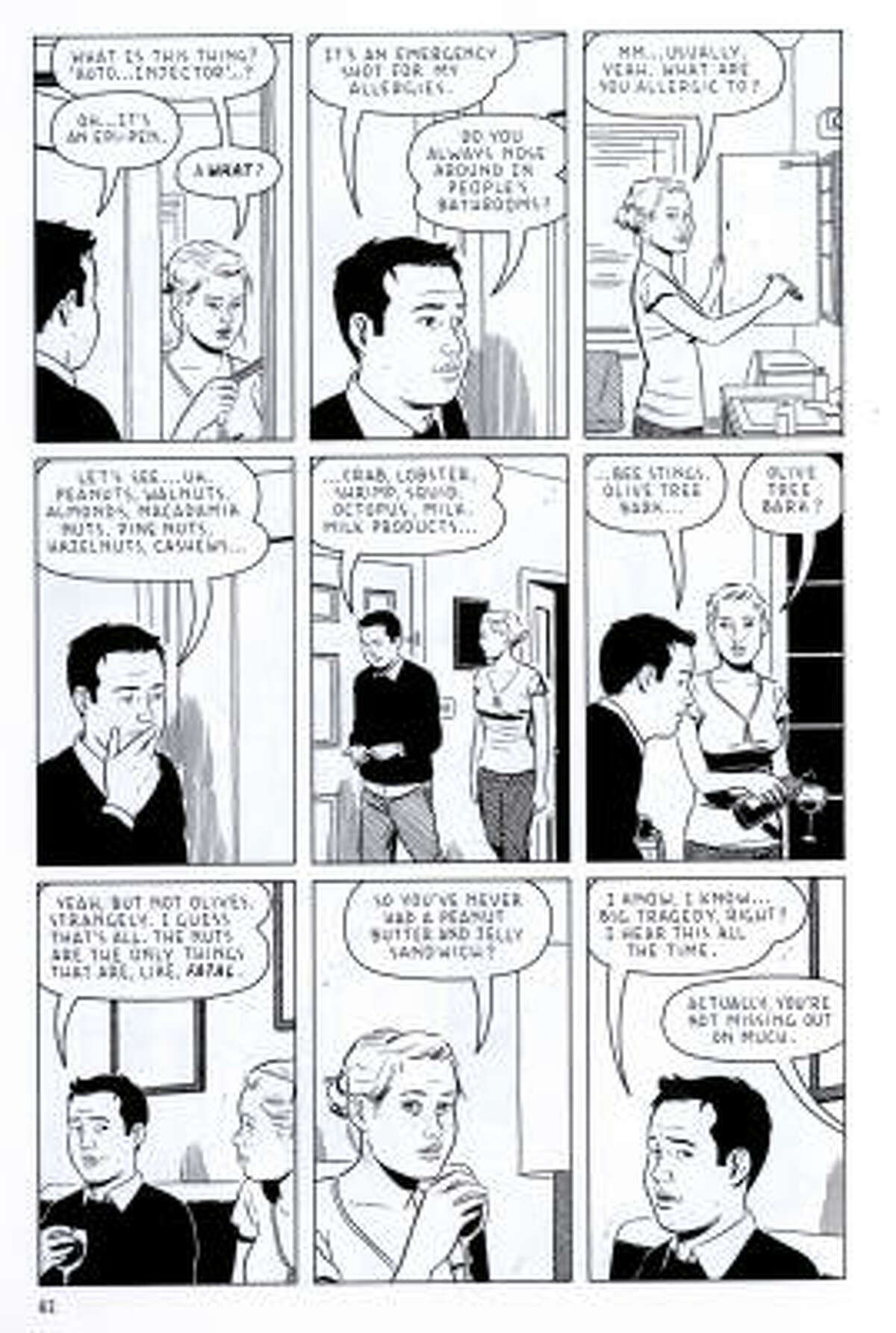 The Shortcomings comic by Adrian Tomine includes characters like Ben Takaka, a guy who's more relatable than likeable.