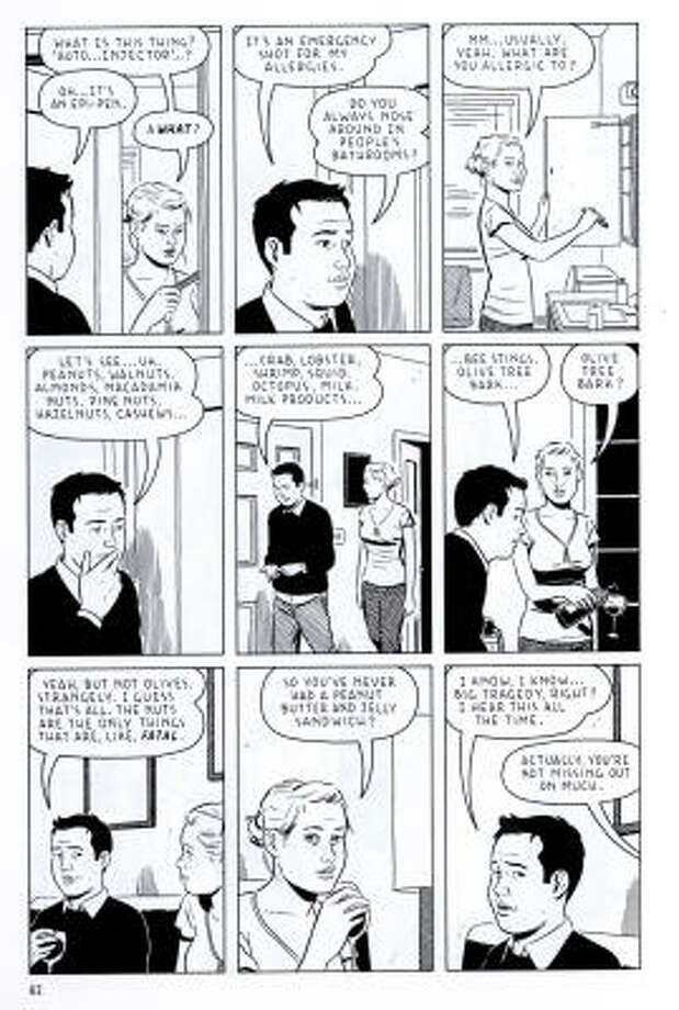 The Shortcomings comic by Adrian Tomine includes characters like Ben Takaka, a guy who's more relatable than likeable. Photo: Adrian Tomine, D&Q