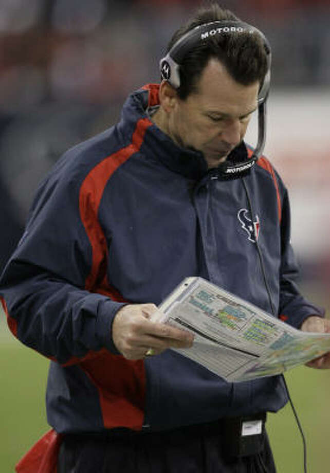 The pressure is on Texans head coach Gary Kubiak to hire a defensive coordinator who fits in. Photo: Melissa Phillip, Chronicle
