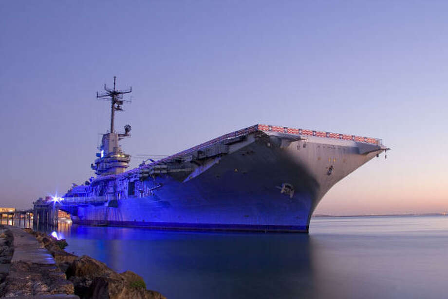 The decommissioned aircraft carrier USS Lexington, which is berthed in  Corpus Christi Bay, is an interactive museum that appeals to all ages. Photo: USS LEXINGTON